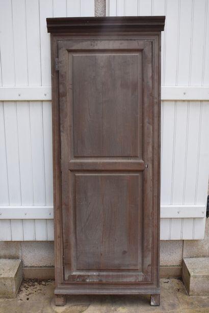 Porte en chêne, XIXe siècle  201 x 75 cm