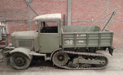 Camion de dépannage, semi-chenillé SOMUA,...