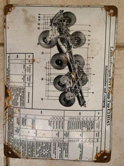 Schéma de graissage Krupp Typ L2H143. (é...