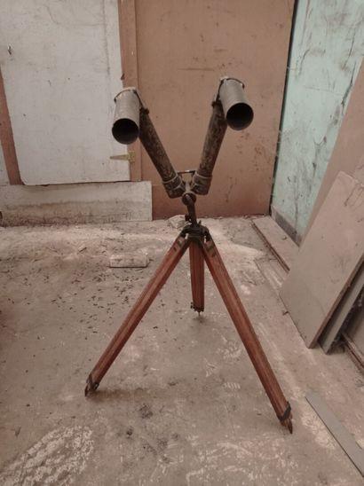 Binoculaire de tranchée, avec trépied en...
