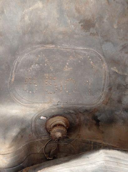 Réservoir souple, en caoutchouc, marqué A M.