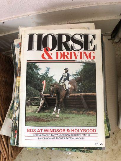 Horse & Driving, vers 1970-1980, lot de revues....