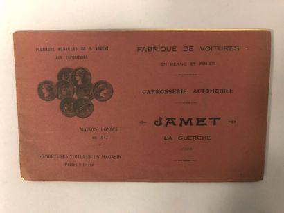 Fabrique de voitures Jamet, La Guerche. Fabrique...