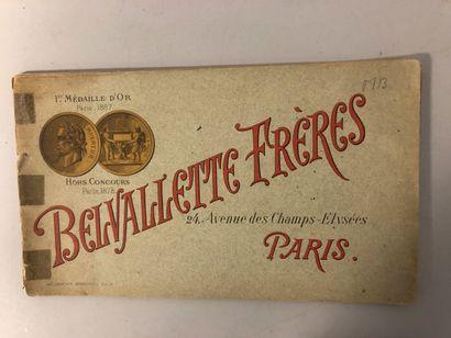Belvalette frères à Paris, Catalogue broché...