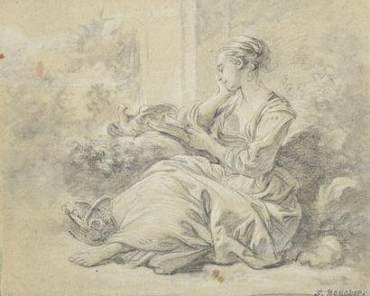 Attribué à François BOUCHER  (Paris 1703-1770)...