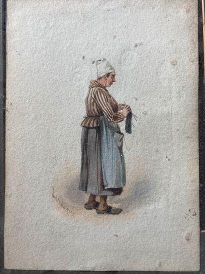 Jules DESPRÈS (1824-1886)  Femme au panier...