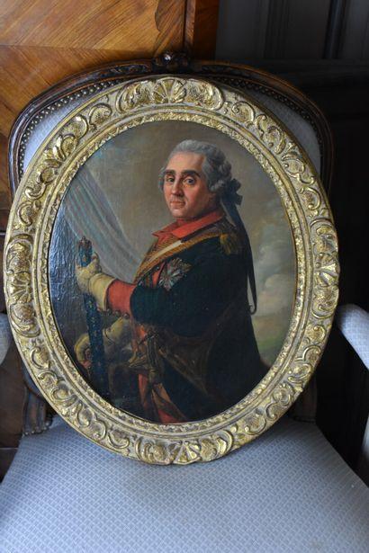 D'après LIOTARD  Portrait du Maréchal de...
