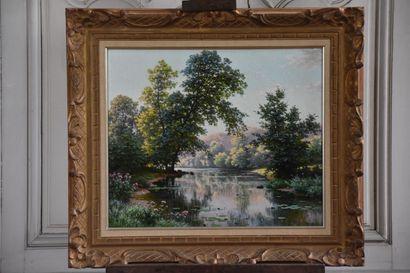 René Charles Edmond HIS (1877-1960)  Paysage...
