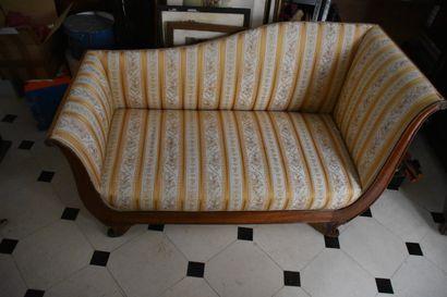 Canapé de repos en acajou d'époque Restauration...
