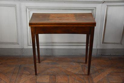 Table à jeux en bois de plaquage, de la fin...