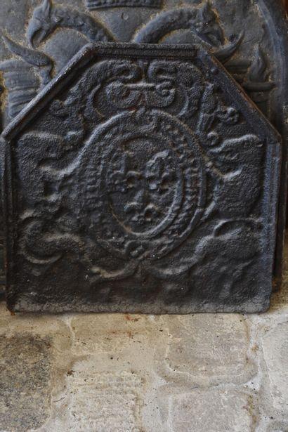 Plaque de cheminée en fonte de fer, XVIIIe...