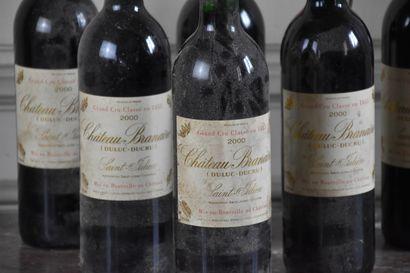 Six bottles Château Branaire, Duluc-Ducru, 2000  Saint Julien, Grand Cru Classé...