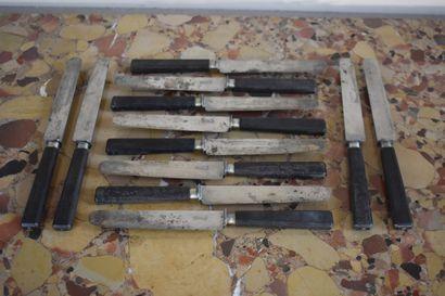Suite de 12 couteaux par PICARD à Dijon,...