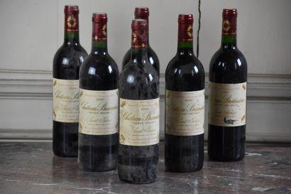 Six bouteilles Château Branaire, Duluc-Ducru,...