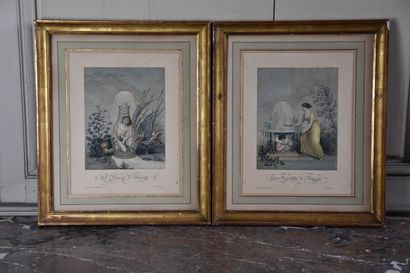Deux lithographies, fin du XIXème siècle...