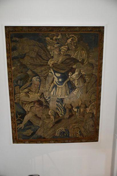 Tapisserie en fil de laine et soie, BRUXELLES,...
