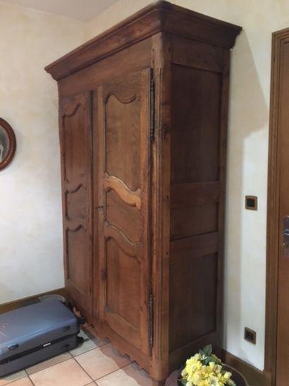 Armoire en bois massif XIXe siècle  H. 225...