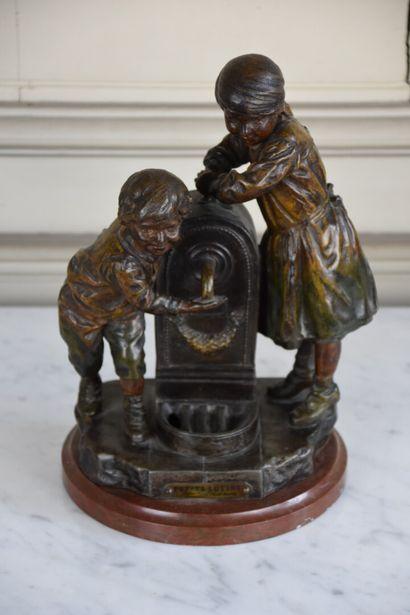 A.J. SCOTTE (1885-1905)  Petits lutins  Régule,...