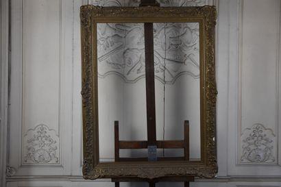 Cadre en bois et stuc doré par Kourent et...