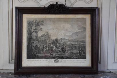 D'après Carl Van Fallens (1683-1733)  Départ...