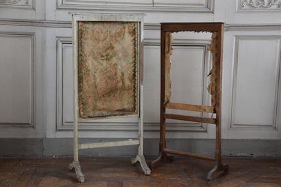 Deux écrans de cheminée, XIXe siècle  L'un...