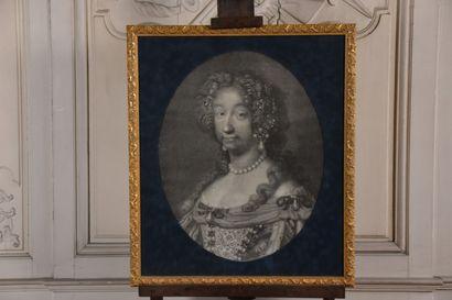 D'après Mignard  Louis Dauphin de France et Marie Anne de Bavière.  Deux gravures...