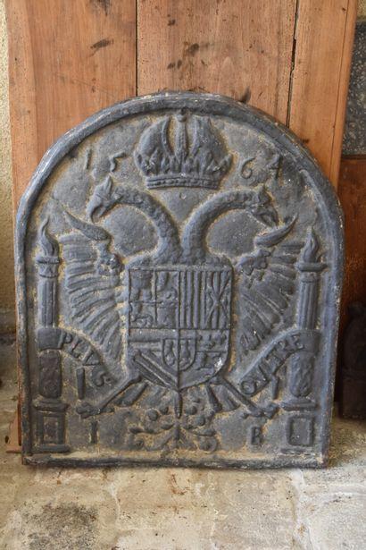 Plaque de cheminée en fonte de fer, XVIe...