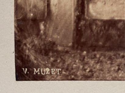 Victor Muzet (1828-18..)  Portail du prieuré de Vizille  Excursion à Vizille, Juillet...