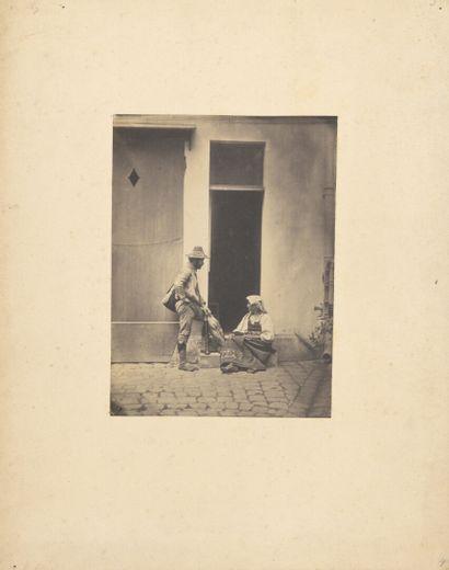 Charles Nègre (1820-1880)  Pifferaro et paysanne...