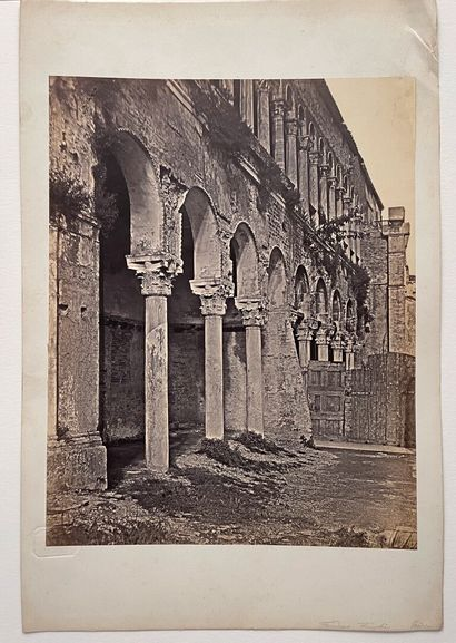 Domenico Bresolin (1813-1900)  Façade délabrée du Fondaco dei Turchi sur le Grand...