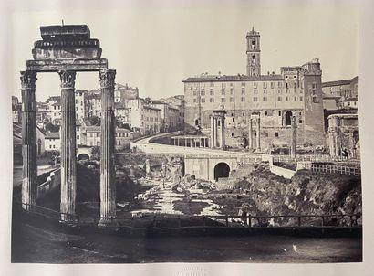 Giuseppe Ninci (1823-1890)  Le Forum, Rome,...