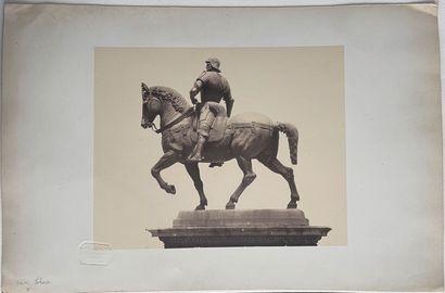 Domenico Bresolin (1813-1900, attr.)  Statue du condottiere Bartolomeo Colleoni,...