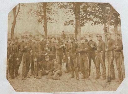 Louis Saugrin (1814-1892)  Les soldats de...