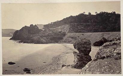 Alphonse Davanne (1824-1912)  Mandelieu-La-Napoule, nouvelle voie de chemin de fer,...