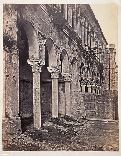 Domenico Bresolin (1813-1900)  Façade délabrée...