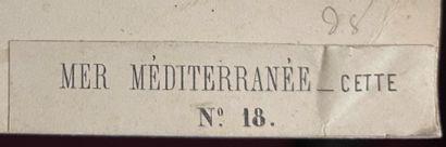 Gustave Le Gray (1820-1884)  La Mer Méditerrannée à Cette, Sète, 1857  Épreuve albuminée,...