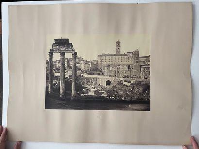 Giuseppe Ninci (1823-1890)  Le Forum, Rome, c. 1868  Grande épreuve albuminée, 270x372...