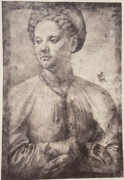 Alinari d'après Léonard de Vinci  Portrait...