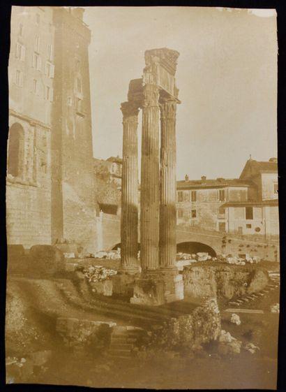 Eugène Le Dien (1817-1865)  Castor et Pollux au centre du Forum, vers 1852  Grand...