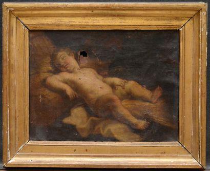 Ecole française vers 1700  Putto endormi...
