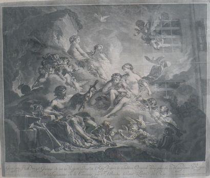 D'après Boucher , XVIIIe siècle  Vulcain...