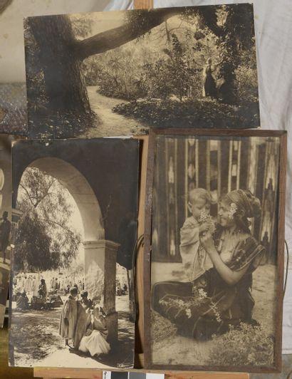 R PROUHO  Vues d'Algérie  Suite de 4 photos...