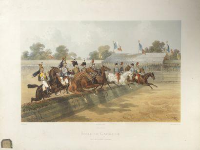 Ecole de cavalerie de Saumur  Le Saut de...