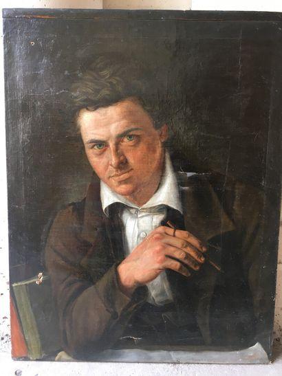 École française vers 1830  Portrait d'un...