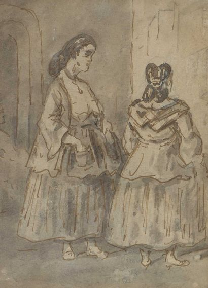 Constantin GUYS (1802-1892)  Deux lorettes...