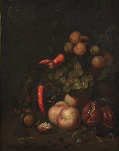 Jan MORTEL (Leide 1652-1719)  Raisins, prunes,...