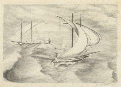 RIPA de ROVERDEO  Fantaisie nautique  Burin...