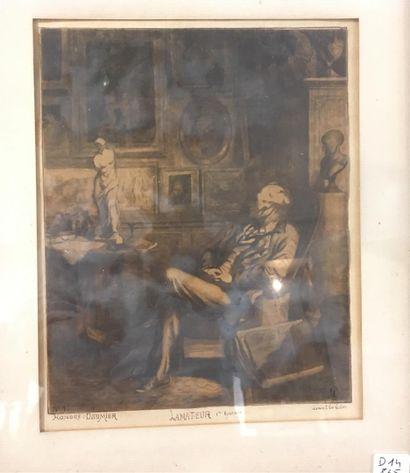 Honoré Daumier  L'amateur  gravure  22,5...