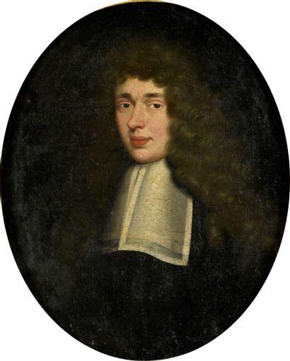 École FRANÇAISE vers 1700  Portrait d'homme...