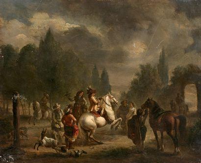 École HOLLANDAISE vers 1800, suiveur de WOUVERMANS...